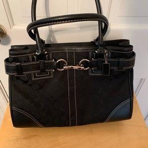 Coach Purse 10246 Hampton Black SignatureC Handbag